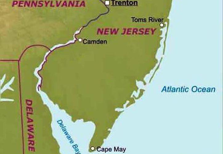 Al centro del mapa aparece Trenton, ciudad donde un hombre se atrincheró con varios rehenes. (turismoafondo.com)