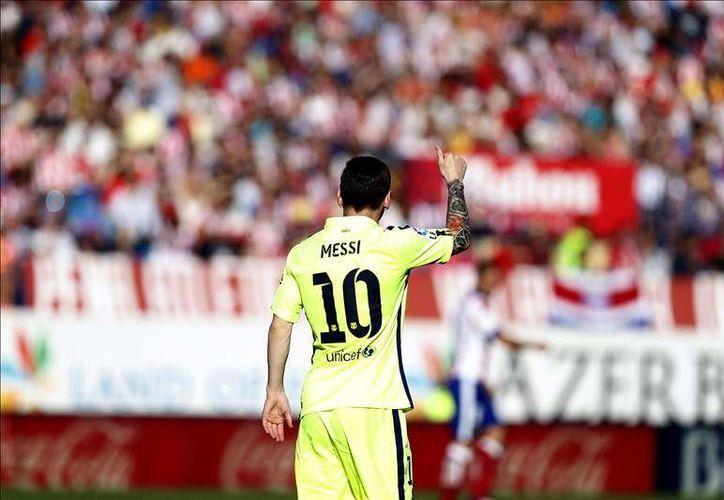 Lionel Messi encabeza la lista de jugadores seleccionados en el once ideal de la UEFA(Efe)