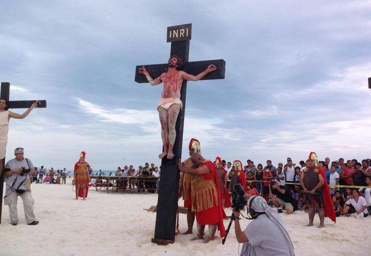 """Últimas palabras de Jesús: """"Dios mío, Dios mío, por qué me has abandonado"""".    (Alejandra Galicia/SIPSE)"""