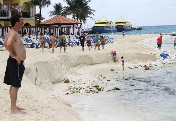 En 2013, al igual que este año, no hubo registro de nidos de tortugas en los arenales de la zona de El Recodo.  (Radael Acevedo/SIPSE)