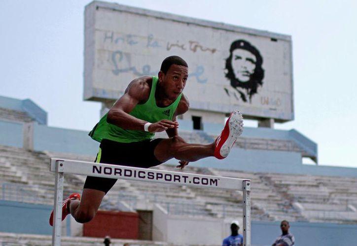 Ortega duranta una sesión de entrenamiento en La Habana el 29 de mayo de 2012. (Agencias)