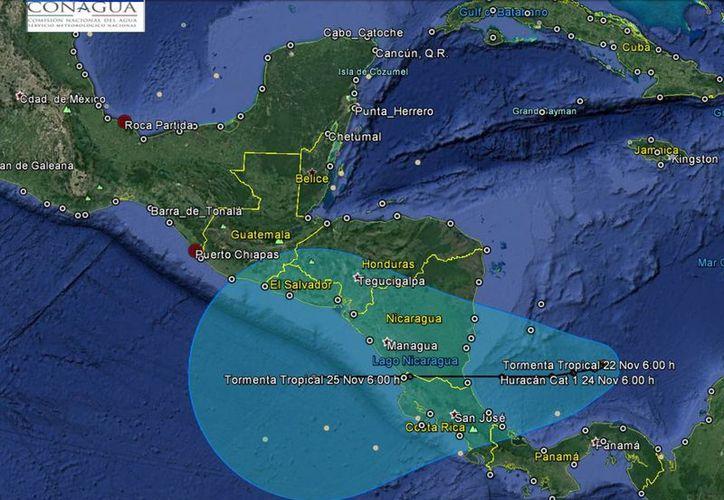 La tormenta tropical no representa peligro para las costas mexicanas. (Conagua)