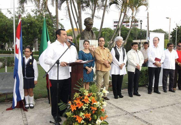Martí conoció en México a quien sería su esposa, recordó el alcalde de Mérida. (Foto: cortesía)