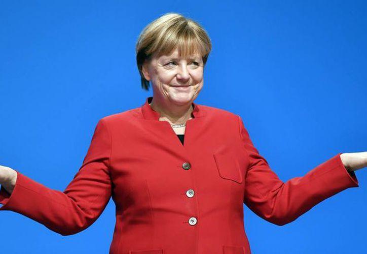 La canciller alemana Angela Merkel ganó un nuevo período de dos años como líder de la Unión Demócrata Cristiana. (AP/Martin Meissner)