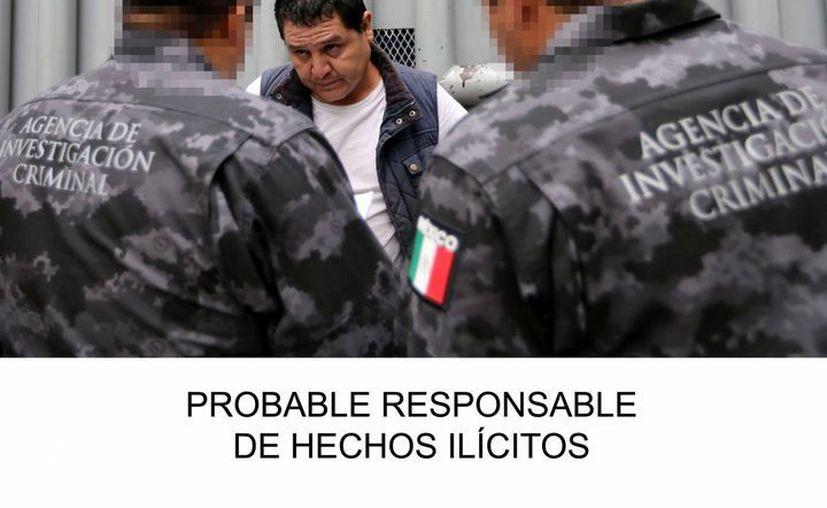"""Gildardo López, alias """"el Gil"""", durante el traslado al Centro Federal de Readaptación Social (Cefereso) número 1 Altiplano, en el municipio de Almoloya de Juárez, Estado de México. (EFE)"""