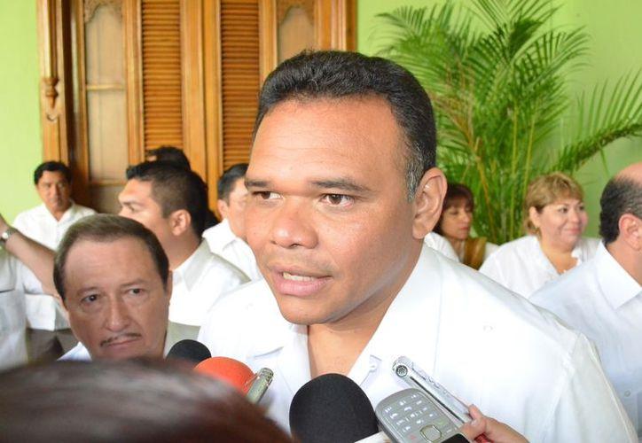 El gobernador de Yucatán, Rolando Zapata, confía en que haya gran participación en Mama. (Theani Ruz/SIPSE)