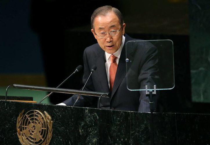 Ban Ki-moon agradeció el apoyo prestado por países como Cuba, Venezuela, Francia y el Reino Unido para hacer frente al ébola. (EFE/Archivo)