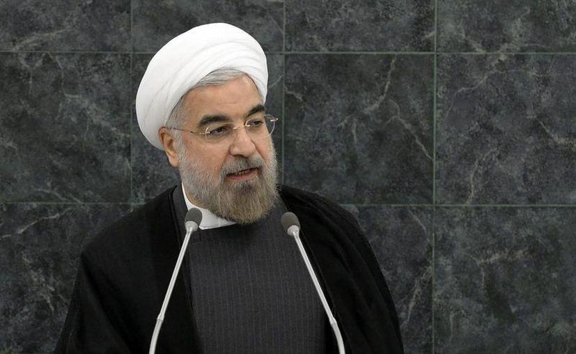 Hassan Rohaní pronuncia su discurso en una conferencia sobre desarme nuclear, durante la 68ª Asamblea General de Naciones Unidas. (EFE)