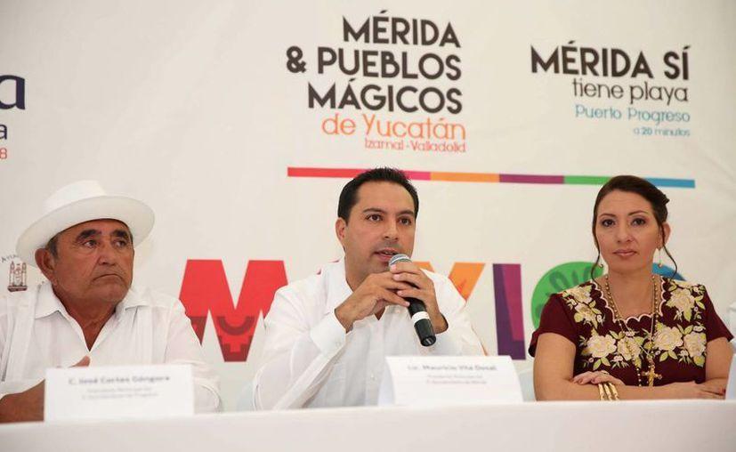 El alcalde meridano Mauricio Vila presentó este jueves en la Ciudad de México alianza turística estratégica para fortalecer el turismo en Mérida, Valladolid e Izamal. (SIPSE)