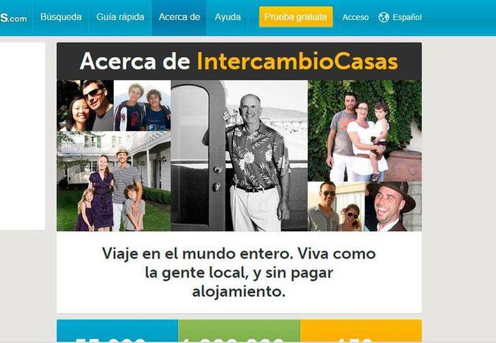 Captura de pantalla del sitio intercambiocasas.com. La tendencia en México de turistas que buscan experiencias diferentes aumenta, según la firma De la Riva Group.