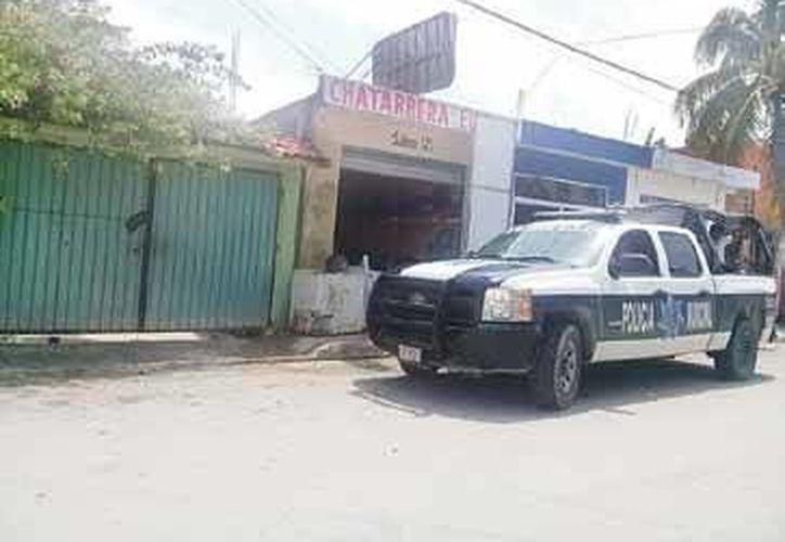 En el operativo se visitaron cuatro establecimiento que se dedican a la compraventa de Chatarra en Tulum. (Rossy López/SIPSE)