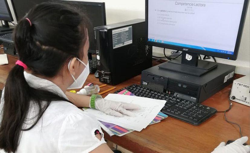 El examen dio inicio a las 9:00 horas. (educacion.yucatan.gob.mx)