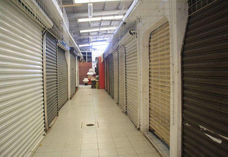 Actualmente alrededor del 40% de los locales comerciales mantienen cerradas sus puertas. (Harold Alcocer/SIPSE)
