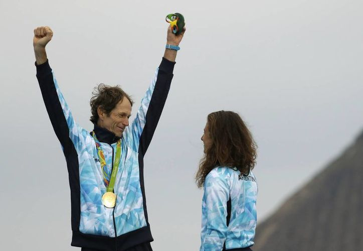 El deportista argentino de 54 años, cumplió uno de sus objetivos, luego de superar una operación de pulmón. (/Bernat Armangue/AP)