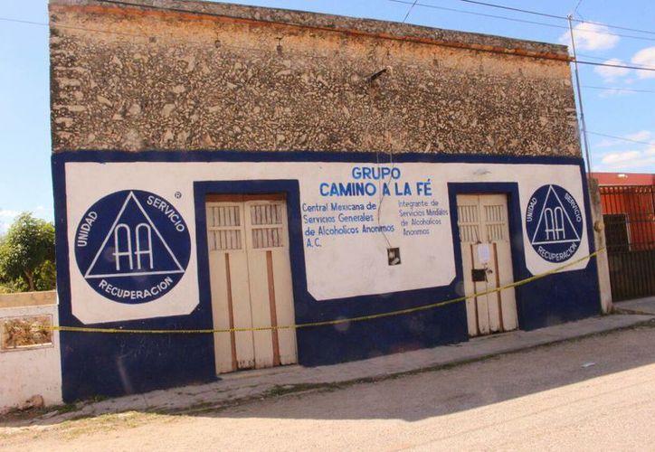 Imagen del lugar en donde fue asesinado el regidor priista de cementerios Pedro Cob Cimé, en Temax. Los 6 acusados fueron vinculados a proceso. (Archivo/SIPSE)