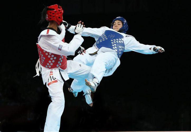Este es el combate en las Olimpiadas de Londres, en 2012, cuando la mexicana María Espinoza eliminó a la cubana Glenhis Hernández. Esta vez se volverán a enfrentar, pero en Juegos Centroamericanos. (EFE)