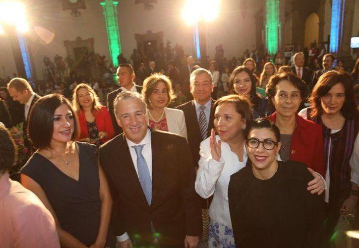 El Secretario de Hacienda y crédito público agradeció el compromiso de las mujeres durante la campaña electoral. (Foto: La Crónica)