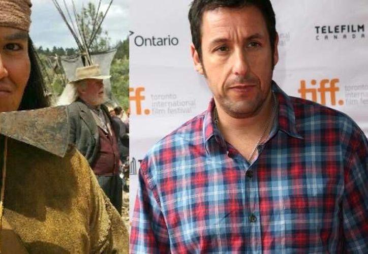 El actor Loren Anthony (i) es uno de los actores indígenas que abandonó el set de filmación de 'The Ridiculous Six', del comediante Adam Sandler, al considerar que promueve estereotipos. (i4u.com)