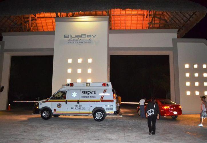 El área incendiada fue el Gym, el spa y parte de del Sport Bar del hotel Blue Bay. (Daniel Pacheco/SIPSE)