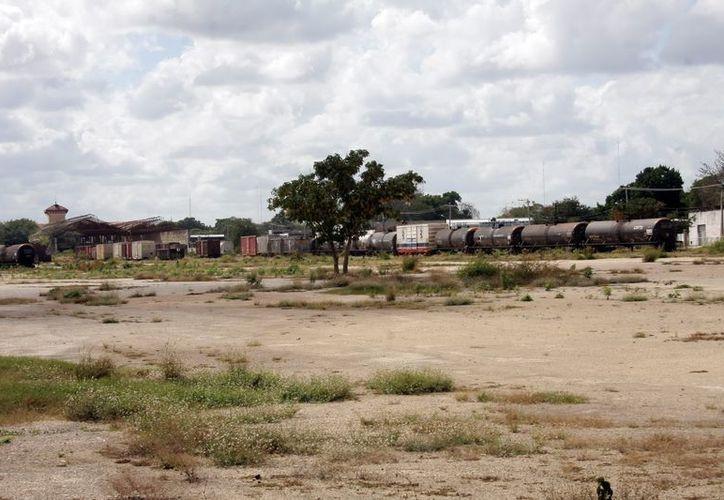 El tren transpeninsular afectaría el proyecto del Parque Central. (Theani Ruz/SIPSE)