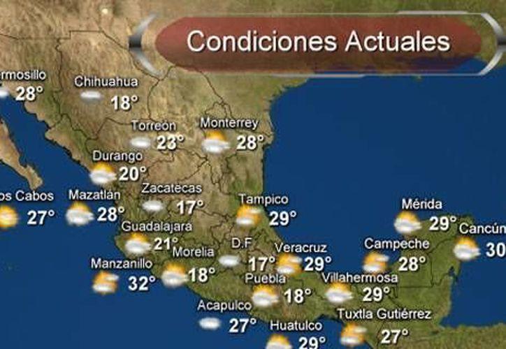 En las últimas 24 horas la temperatura más alta fue de 46.4 grados, en Ejido Nuevo León, BC, y la menor fue de 8, en Toluca. (smn2.cna.gob.mx)