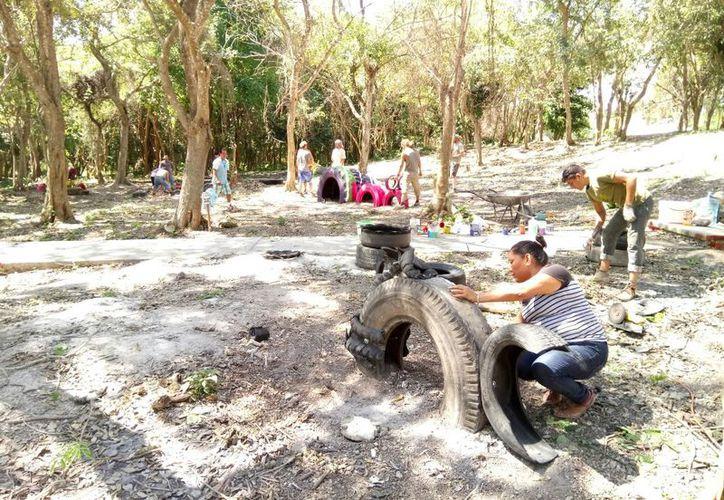 """El terreno conocido como """"La Rejita"""", en Bacalar, se encuentra en disputa entre ejidatarios y organizaciones civiles.  (Javier Ortiz/SIPSE)"""