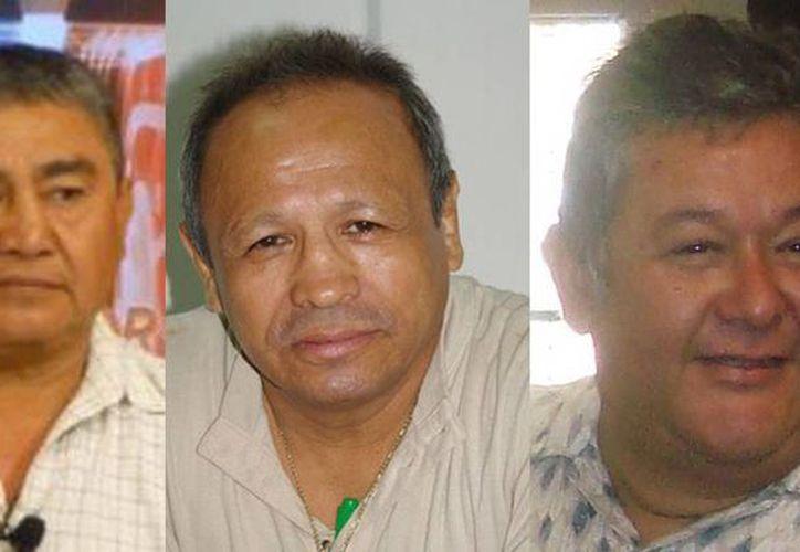 Gustavo Espadas, Miguel Canto y Sergio Cocom. (Milenio Novedades)
