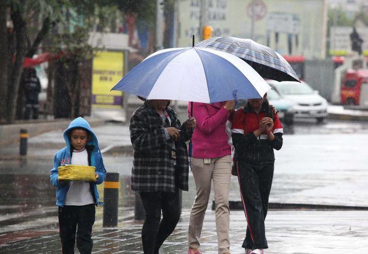 En el Distrito Federal se prevén lluvias de menor intensidad para las próximas horas. (Notimex)