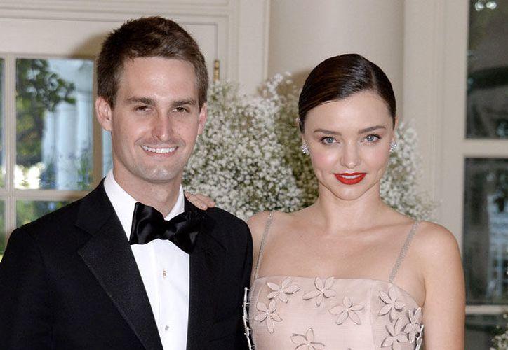 Miranda y Spiegel se casaron hace seis meses en el jardín de su casa de California. (Foto: Contexto)
