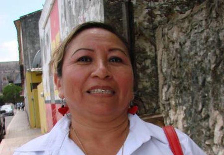 Nely Margarita Koyoc Caamal, va por la presidencia municipal representando al Partido del Trabajo. (Manuel Salazar/SIPSE)