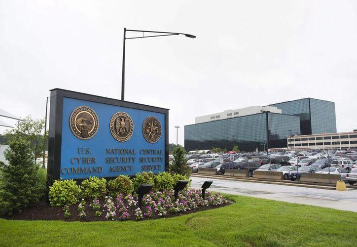 Entrada a la sede de la Agencia de Seguridad Nacional (NSA, según sus siglas en inglés), en Fort Meade (EU). (EFE/Archivo)