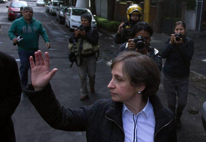 Los integrantes de MexicoLeaks condenaron la 'persecución' de la que Carmen Aristegui es víctima. (EFE)