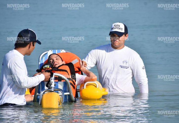 Ofrece todo para que las personas con discapacidades disfruten de la playa. (Fotos de Gerardo Keb)