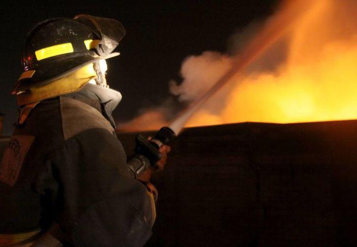 Bomberos lucharon por varias horas para apagar el incendio.(Archivo)