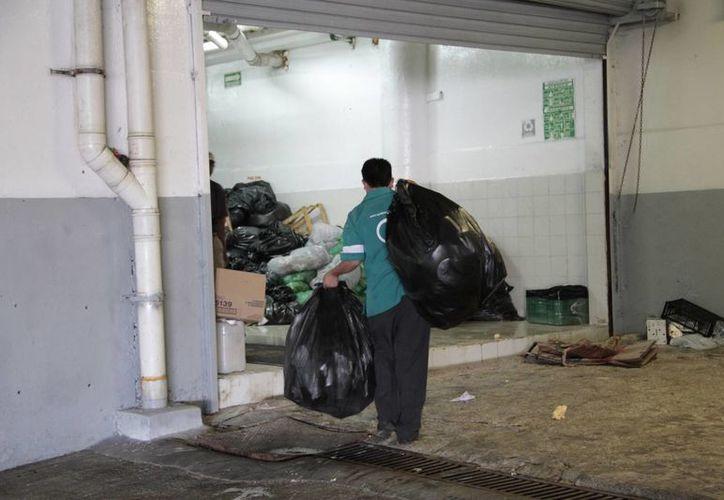 La administración de la plaza para mitigar el amontonamiento de desperdicios, pagó servicios de fletes y en promedio gastó en esa temporada más de 130 mil pesos. (Tomás Álvarez/SIPSE)