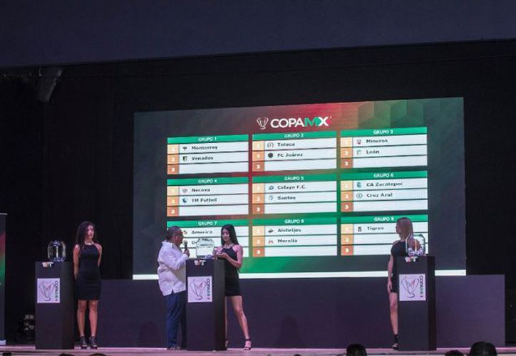 En el marco de la ceremonia del sorteo, se dio a conocer que la Copa MX en el Torneo Apertura 2018 iniciará el próximo 24 de julio. (Récord)