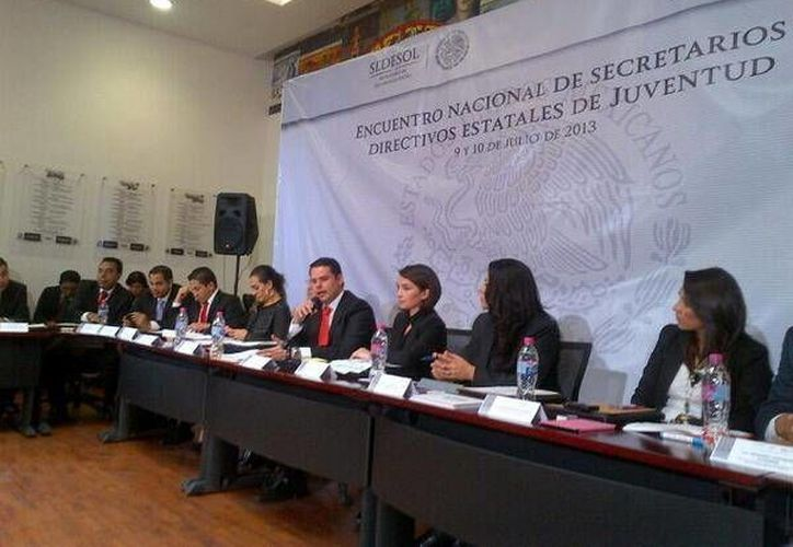 Alaine López participa en reunión de secretarios de Juventud. (Milenio Novedades)