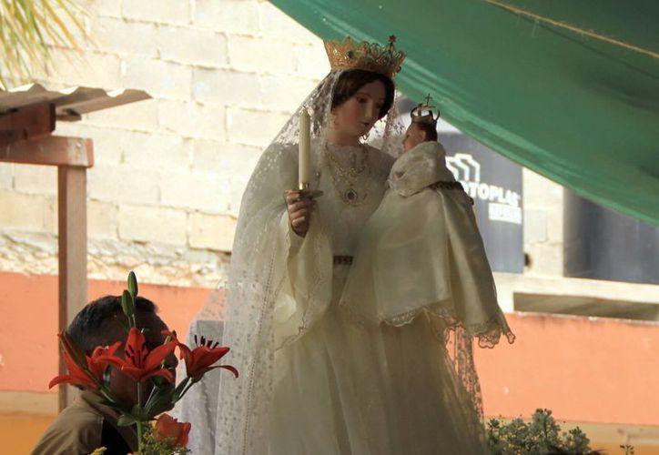 Se espera a gran número de fieles Virgen el templo de la Candelaria en el Centro histórico de Mérida. (Milenio Novedades)