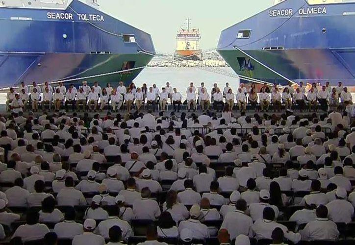 El buque tiene una capacidad habitacional: espacios de acomodación para 715 personas. (Redacción/SIPSE)