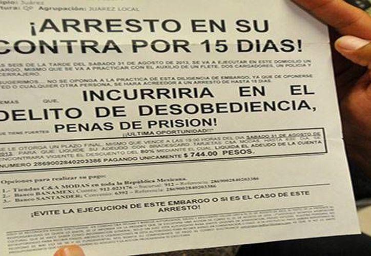 Los despachos de cobranza siguen amenazando a deudores, ahora en el interior del estado. (SIPSE)