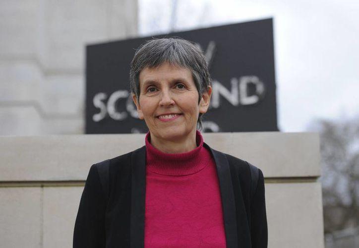 Imagen de Cressida Dick, la nueva comisionada de la Policía Metropolitana de Londres, en la New Scotland Yard en Victoria Embankment, este miércoles. Es la primera mujer que se pone al frente de ese cuerpo en sus 188 años de historia. (Charlotte Ball / PA vía AP)
