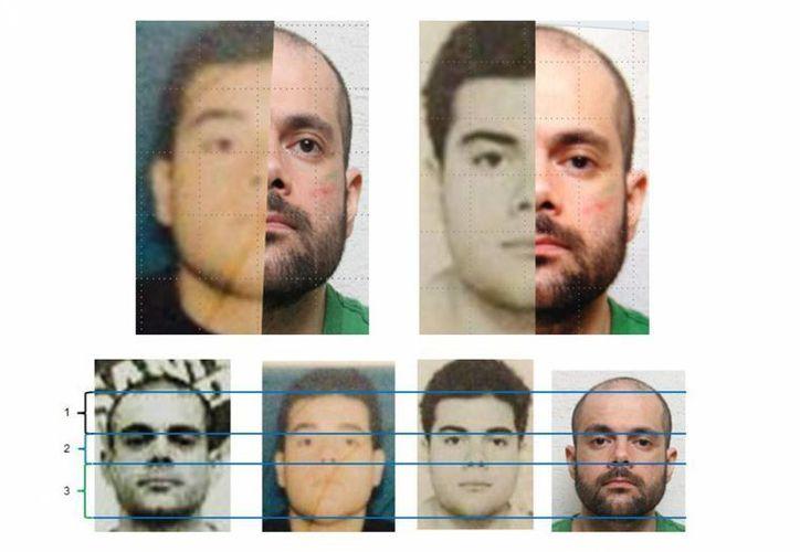 Serie de imágenes cedidas este miércoles por la PGR, del líder del cártel de los Arellano Félix, Fernando Sánchez Arellano, detenido en Tijuana, BC,el lunes 23 de junio. (EFE/PGR)