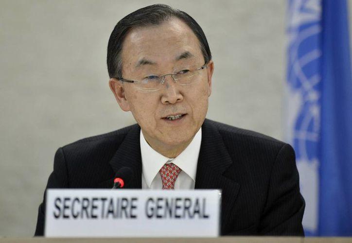 El titular de la ONU se enteró de la muerte de Chávez durante una rueda de prensa. (EFE)