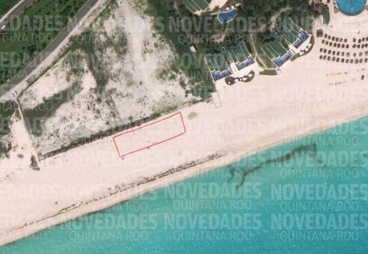 En la zona donde se pretendía instalar el el Beach Club, la playa tiene características aptas para el desove y anidación de las tortugas marinas.(Foto: Jesús Tijerina/SIPSE)