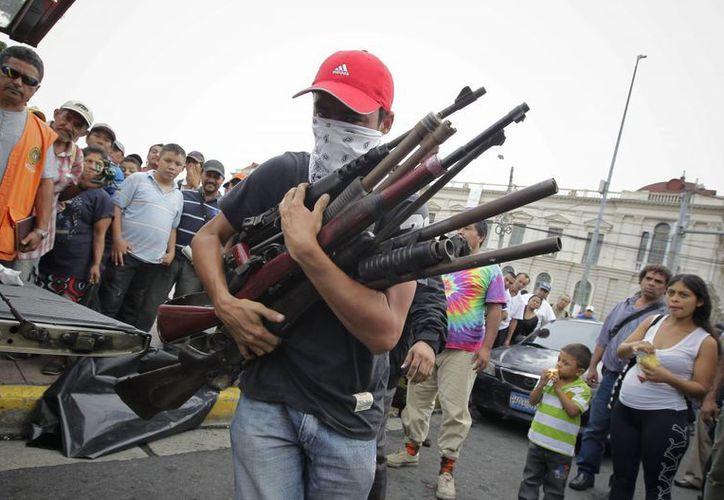 Los pandilleros dijeron realizar un 'acto de buena voluntad'. (EFE)