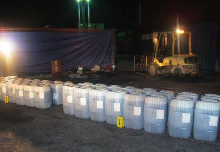 El material decomisado ya se encuentra en Mérida. (SIPSE)