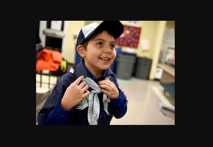 Joe Maldonado, que nació niña hace nueve años, se incorporó al grupo en el condado de Essex en Nueva Jersey. (Amy Newman/NorthJersey.com)