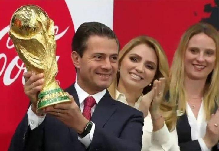 El presidente de México, Enrique Peña Nieto, mandó éxito al Tricolor. (@PresidenciaMX)