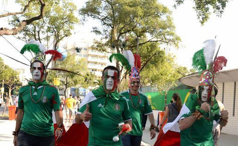 La afición fue lo mejor que tuvo México en su partido ante Italia. (Notimex)