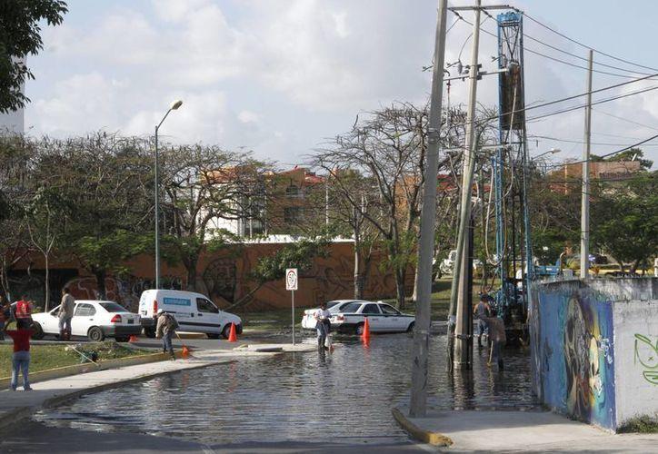 La comuna no tiene recursos para limpiar todos los pozos. (Tomás Álvarez/SIPSE)